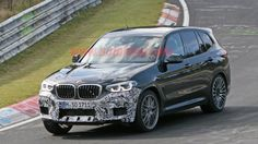 BMW X3 M spied looking aggressive and nearly uncovered