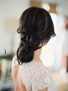 Loose and low updo | Photo: Lauren Kinsey | via Snippet & Ink