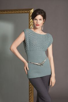 crochet knit top