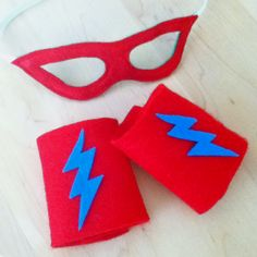 Craft for superheros - felt masks and armbands for kids to decorate with sticky back felt cut outs.