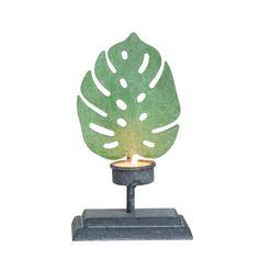 Iron Leaf Tealight Holder Small