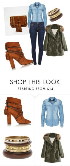 """Untitled #34"" by mbelen-ac on Polyvore featuring Aquazzura, Vero Moda, WithChic and Frame Denim"