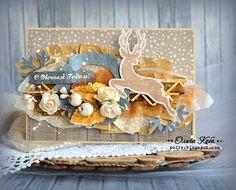 """Челлендж блог """"Творить мечты"""": Видео МК по новогодней открытке от приглашенного дизайнера Ольга Кобы"""