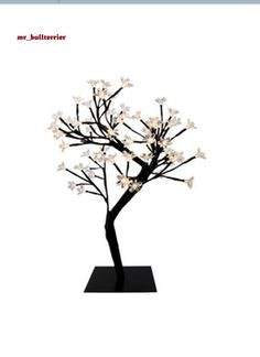 NEW 64-Piece Warm LED Lights Table Top Portable Cherry Blossom Tree Desk Lamp
