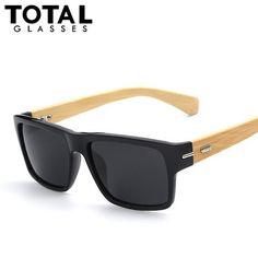 Totalglasses Polarized Sunglasses Men Vintage Bamboo Glasses Fashion Sunglass Women Brand Designer Oculos De Sol Masculino