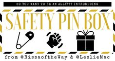 Safety Pin Box is a monthly subscription box for white people striving to be allies in the fight for Black Liberation.