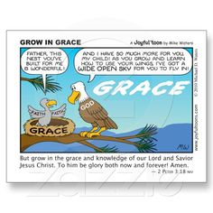 God is not content for us to remain in the nest of His grace. He wants us to grow and develop our faith and knowledge of Him, so that we can soar to higher levels of His grace. Christian Comics, Christian Cartoons, Funny Christian Memes, Christian Humor, Christian Life, Christian Quotes, Bible Scriptures, Bible Quotes, Faith Quotes