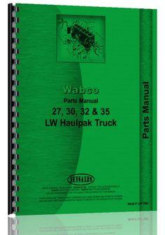Wabco LW-30 Haulpak Truck Parts Manual