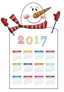 snowman-2017-calender | Crafts and Worksheets for Preschool,Toddler and Kindergarten