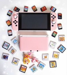 Video Game Nintendo, Nintendo 3ds, Nintendo Switch Accessories, Gaming Accessories, 3ds Games, Kawaii Games, Nintendo Switch Case, Nintendo Console, Gaming Room Setup