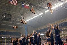 The way stunts look in midair...