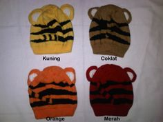 #Topi Rajut Macan ~ 40ribu. Topi rajut ini bahannya bagus & motifnya sangat lucu. Dibelakang topi juga ada ekor nya