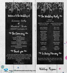 DIY Rustic Chalkboard Wedding Program by 1CreativeMastermind