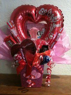 Valentine Candy Bouquet $15.00