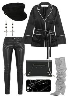 """""""Untitled #1941"""" by kellawear ❤ liked on Polyvore featuring Yves Saint Laurent, Off-White, Recover, Balenciaga, Manokhi and Givenchy"""