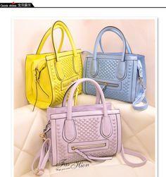 FreeShipping Liuxinqianxian Brand Yellow Blue Small Single-Shoulder Bags Women Top Quality New Fashion 2013 PU Leather $50.70