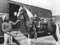 trainer Glenn Randall and Trigger Jr.