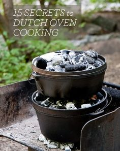 There is something special about Dutch ovens, I can't put my finger one what it is but there is just something very satisfying about cooking in a large, heavy cast iron pot with a lid, especially when that cooking is done outdoors on a campfire…
