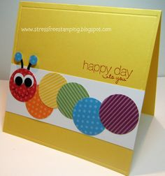 Great use of scraps - great idea for a birthday card the kids could make for their friends.