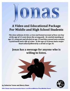 Drug Education - Through the Eyes of a Recovering Addict This Drug Education and Awareness package presents the real life story of a recovering addict. Jonas shares his story in a video format in hopes that others will be saved without making his mistakes.