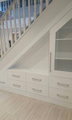 Bespoke Deluxe Under Stairs Storage Unit Understairs Storage Bespoke Deluxe stairs storage Unit Space Under Stairs, Under Stairs Cupboard, Home Stairs Design, House Design, Under Stairs Storage Solutions, Under Stair Storage, Staircase Storage, Cupboard Storage, Cupboard Ideas