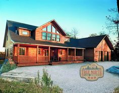Log Home Models | Huntingford V from True North Log Homes