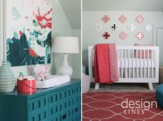 Bright & Fun Nursery Design Lines, Ltd. | Award Winning Interior Design | Raleigh, NC
