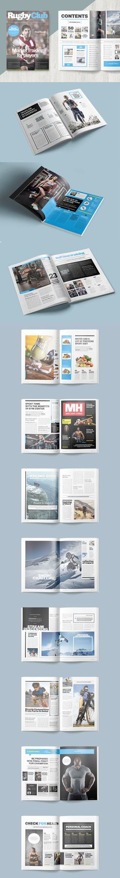 Magazine Template InDesign INDD - 25 Pages