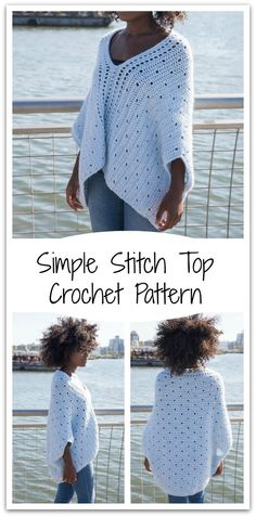 You can make this Simple Stitch Top with New Basic 175 yarn. Downloadable crochet pattern #ad #affiliate #crochet #pattern