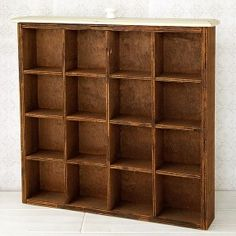 Vintage Divided Drawer and Wall Display