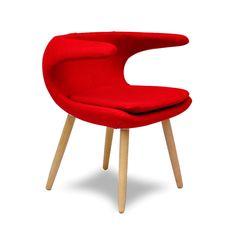 Laguna Arm Chair in Red   dotandbo.com