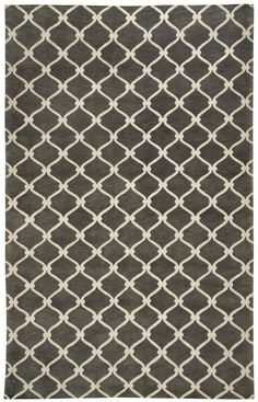 COCOCOZY Picket 1928 Light Charcoal Rug
