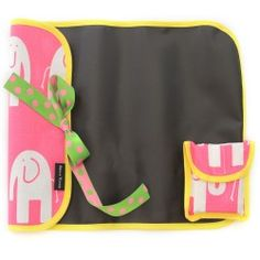 Elephant Trunk Fuchsia Imagidoodle Chalkfolio...on-the-go chalk mat that rolls and ties for travel and easy entertainment! Includes chalk. $24 www.bellatunno.com