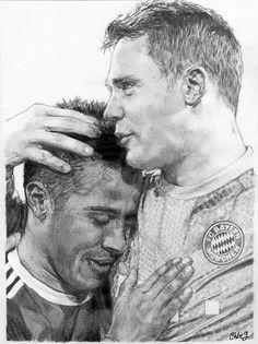 Thiago Alcantara & Manuel Neuer - FC Bayern,Munich, Germany #ThiagoAlcantara #Alcantara #ManuelNeuer #Neuer #FCBayern #Bayern #Munich #MiaSanMia