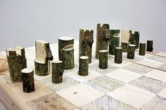 Peter Marigold's Log Chess Set is Made from a Single Branch | Inhabitat - Sustainable Design Innovation, Eco Architecture, Green Building