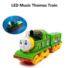 New Led Music Electric Train Educational light music universal Thomas Train Toy #Unbranded