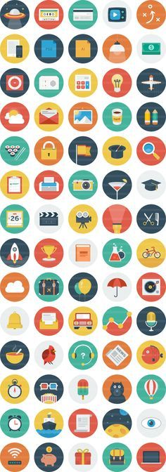 Ballicons is a colorful set of scalable icons featuring the flat design trend