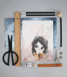 Mrs Mighetto 'The Forgotten Tivoli' Two-card pack watercolour art print - Lola / Lost Carousel 18x24cm (PRE-ORDER)