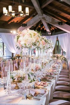 We love seeing pretty pink weddings that take to the next level! Jasmine Lee Photography captured a seriously elegant California wedding in Palo Alto. There were romantic pink flowers that took over the scene from Nicole Ha Floral Design, and dreamy blue and blush reception design by Charmed Events Group, LLC. The luxury rose gold cutlery, crystal …