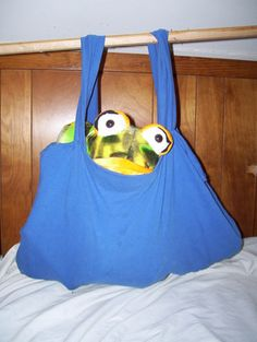 Reusable bags made from t-shirts - Earth Day / environmental project
