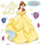 EK Success - Disney Collection - 3 Dimensional Stickers with Epoxy Foil and Gem Accents - Belle