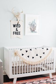 #Babyletto Hudson Cot in White available via www.designkids.com.au