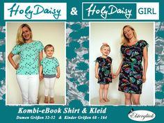 Mit dem Kombi-eBook Holy Daisy und Holy Daisy GIRL kannst Du einen raffinierten Partnerlook für Dich und Deine Tochter kreieren.   Du kannst die HolyDaisy als lässiges Shirt (mit und ohne...