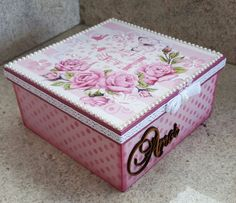 Porta bijuterias com 2 andares Dyi Crafts, Wood Crafts, Diy Wood Projects, Projects To Try, Decoupage Box, Pretty Box, Altered Boxes, Jewellery Boxes, Craft Box