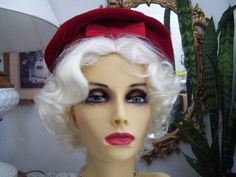 Hey, I found this really awesome Etsy listing at https://www.etsy.com/listing/179412784/vintage-1960s-red-velvet-tam-beret-hat