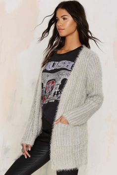 Fuzz Worthy Ribbed Cardigan - Clothes | Cardigan