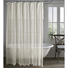 cut shower curtain and make into out side window panels!