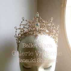 #眠りの森の美女 3幕#オーロラ姫に。豪華バージョンティアラ✨#ballet #balletdancer #balletcostume #ballettiara #headpiece #sleepingbeauty#バレエコンクール #バレエ衣装 #バレエティアラ #プリンセスオーロラ