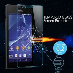 Premium 0.2MM 9H Nano Anti-Burst Tempered Glass Screen Protector For Sony Xperia M2 S50H Protective Film