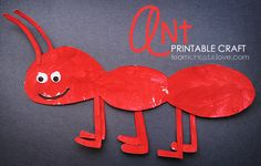 Summer Crafts For Preschoolers | Printable Ant Craft }